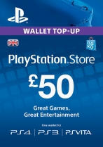 PSN UK 50 GBP PlayStation Network Card (Digital)