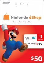 Nintendo USD 50 eShop Prepaid Card (Digital)