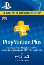 PSN Plus UK 3 Months PlayStation Plus Membership (Digital)