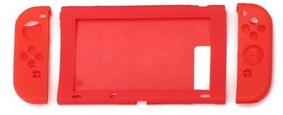 Nintendo Switch Console + Joy-con Silicone Case (Red)