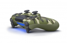 New DualShock 4 Wireless Controller (Green Camouflage)