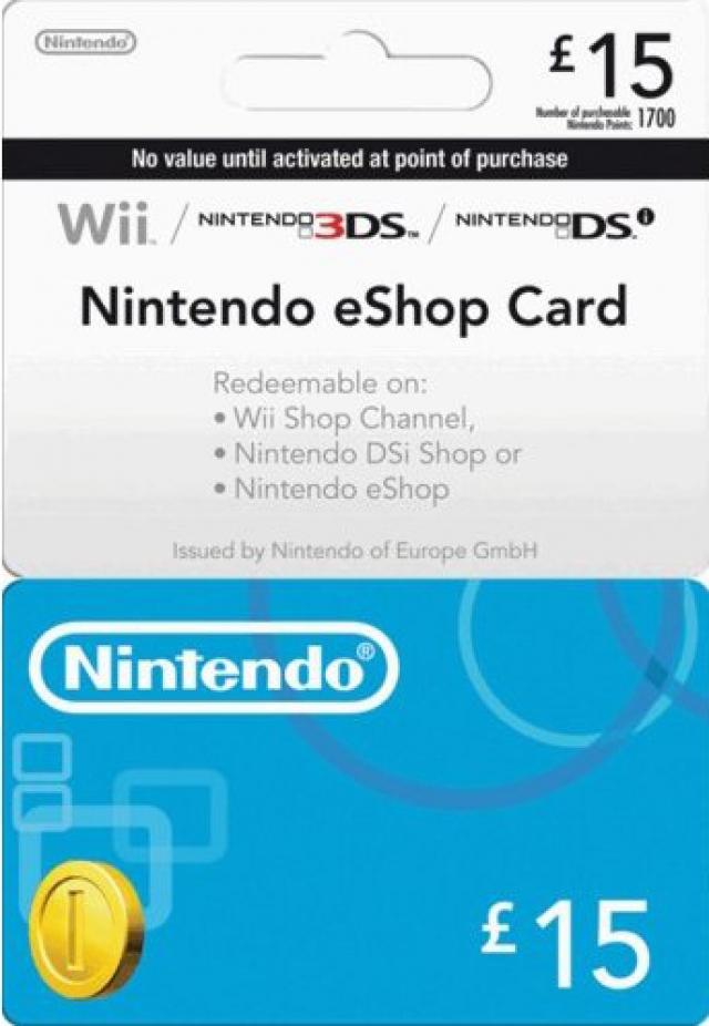 Nintendo GBP 15 eShop Prepaid Card (Digital)