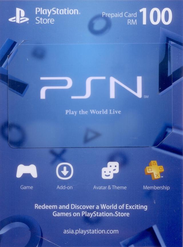 Psn Malaysia Rm100 Playstation Network Card Digital
