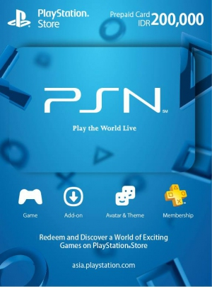 PSN Indonesia 200,000 Rp PlayStation Network Card (Digital)