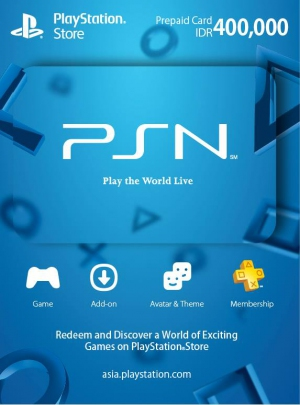 PSN Indonesia 400,000 Rp PlayStation Network Card (Digital)