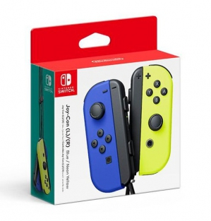 Joy-Con Controllers (Neon Blue/Yellow)