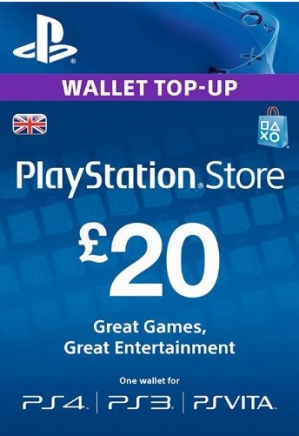 PSN UK 20 GBP PlayStation Network Card (Digital)