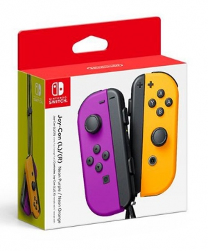 Joy-Con Controllers (Neon Purple/Orange)
