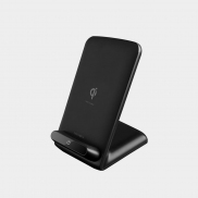 Energea WiDock 2-Coils Wireless Fast Charging Stand (Black)