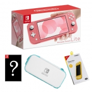 Nintendo Switch Lite (Coral Pink) Value Bundle