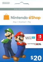 Nintendo USD 20 eShop Prepaid Card (Digital)