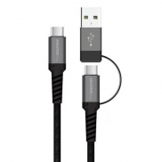 AMAZINGthing SupremeLink 1.2m, TypeC-to-TypeC cable 2-in-1 with USB-A 5A 100W