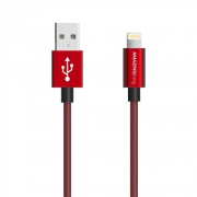 AMAZINGthing SupremeLink Lightning Power Max Cable MFI 1m (Red)