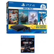 PlayStation 4 Slim 1TB Mega Pack Bundle with Resident Evil 3 Remake