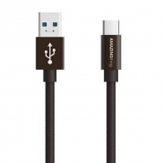 AMAZINGthing SupremeLink Charge & Sync 3.1 USB-C to USB-A Cable 1m (Brown)