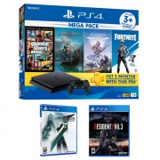 PlayStation 4 Slim 1TB Mega Pack Bundle with Final Fantasy 7 Remake & Resident Evil 3 Remake